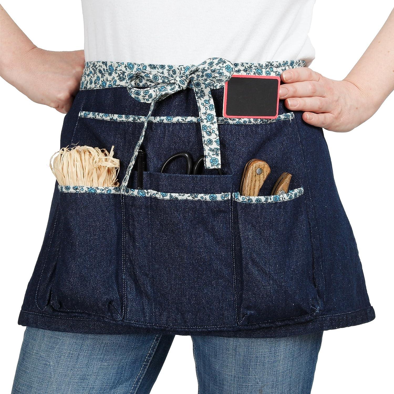 La Cordeline Grembiule da giardinaggio in cotone Blue Jeans Liberty 64 x 0, 5 x 34 cm TJC1BJL TRADEX