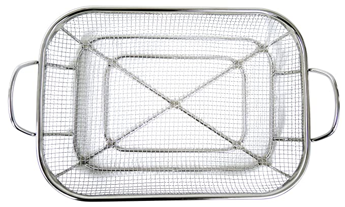 Amazon.com : Mesh Roasting Pan with Grilling Claws : Garden ...