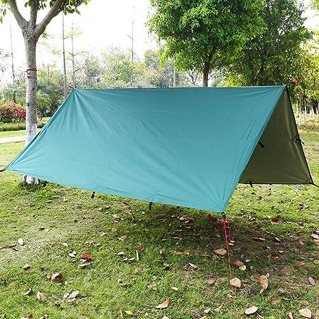 Lona Impermeable,Toldo Camping,Lonas Impermeables Exterior, la sombra del sol y la pulsera de supervivencia con acero inoxidable ajustar el grillete ...