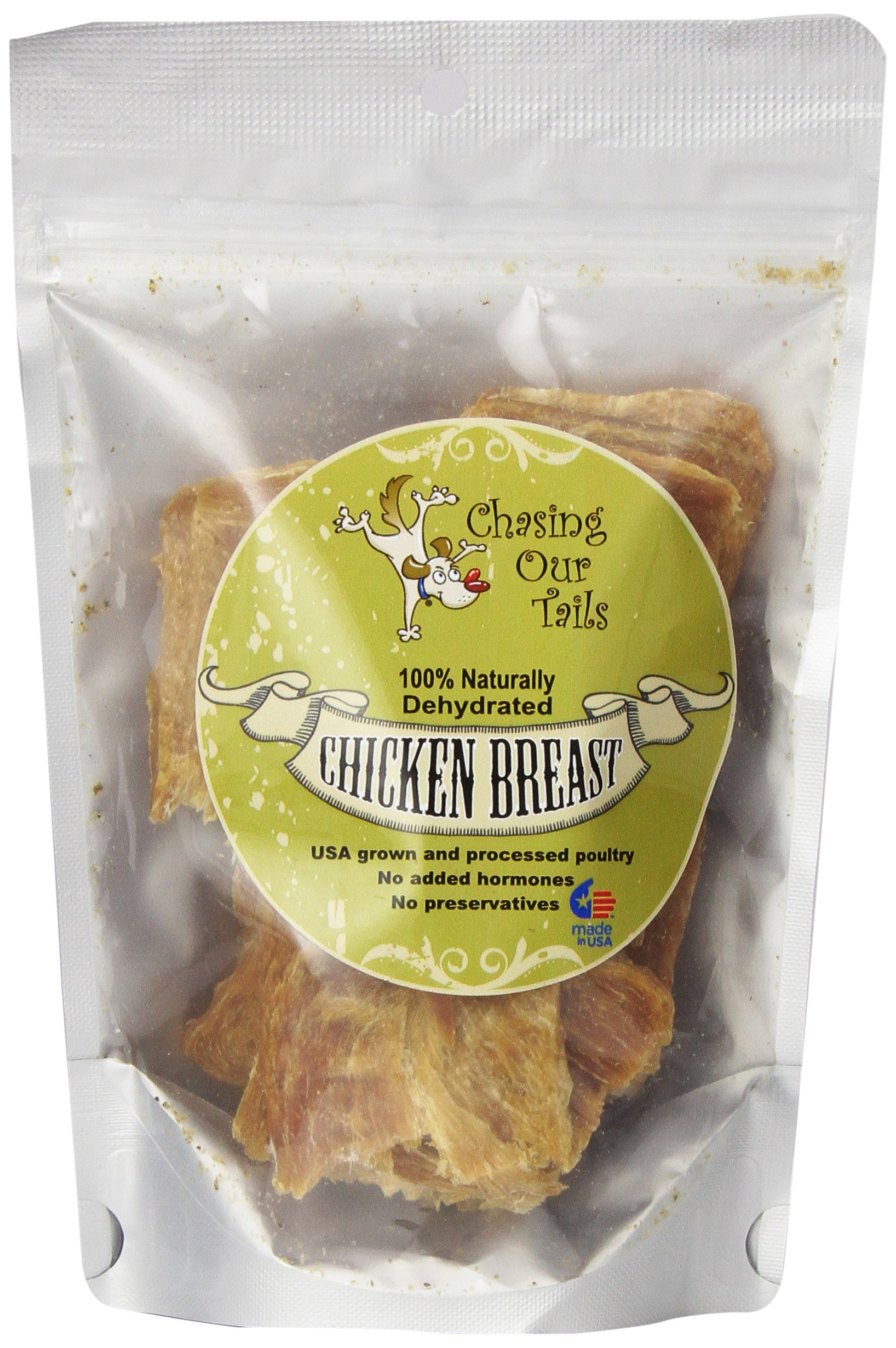 Chasing Our Tails Naturally Dehydrated Chicken Breast Pets, 5-Ounce