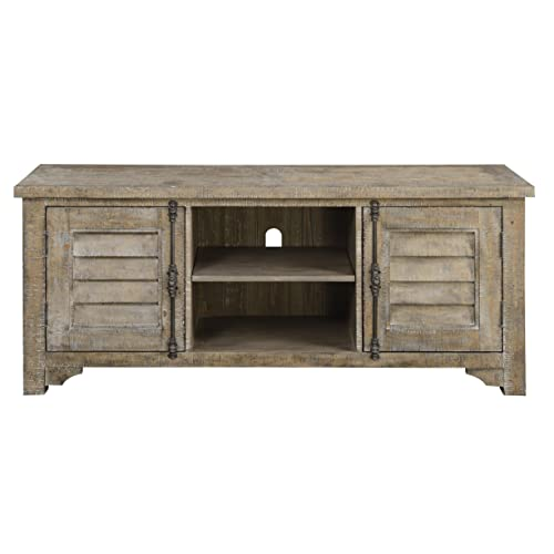 Emerald Home Furnishings Interlude TV Entertainment Consoles, Standard, Sandstone Gray