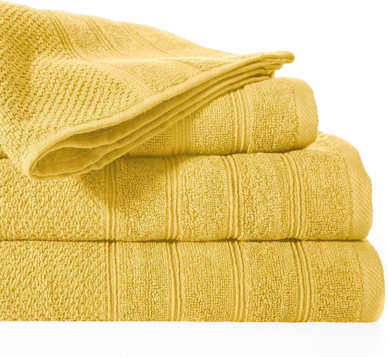 Design91 - Toalla de baño (100% algodón, 50 x 90 cm): Amazon.es: Hogar