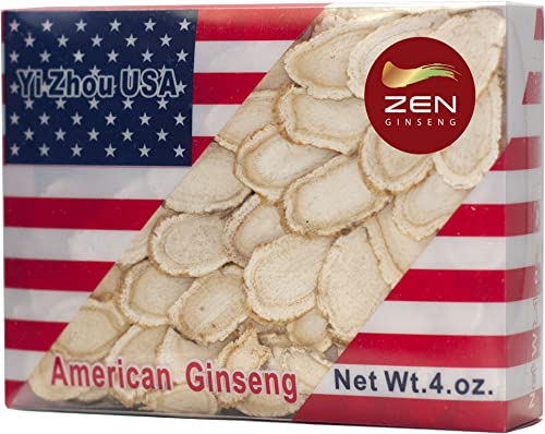 Best Hand-Selected American Wisconsin Ginseng Slice 4oz Box. Boost Your Body Immune System