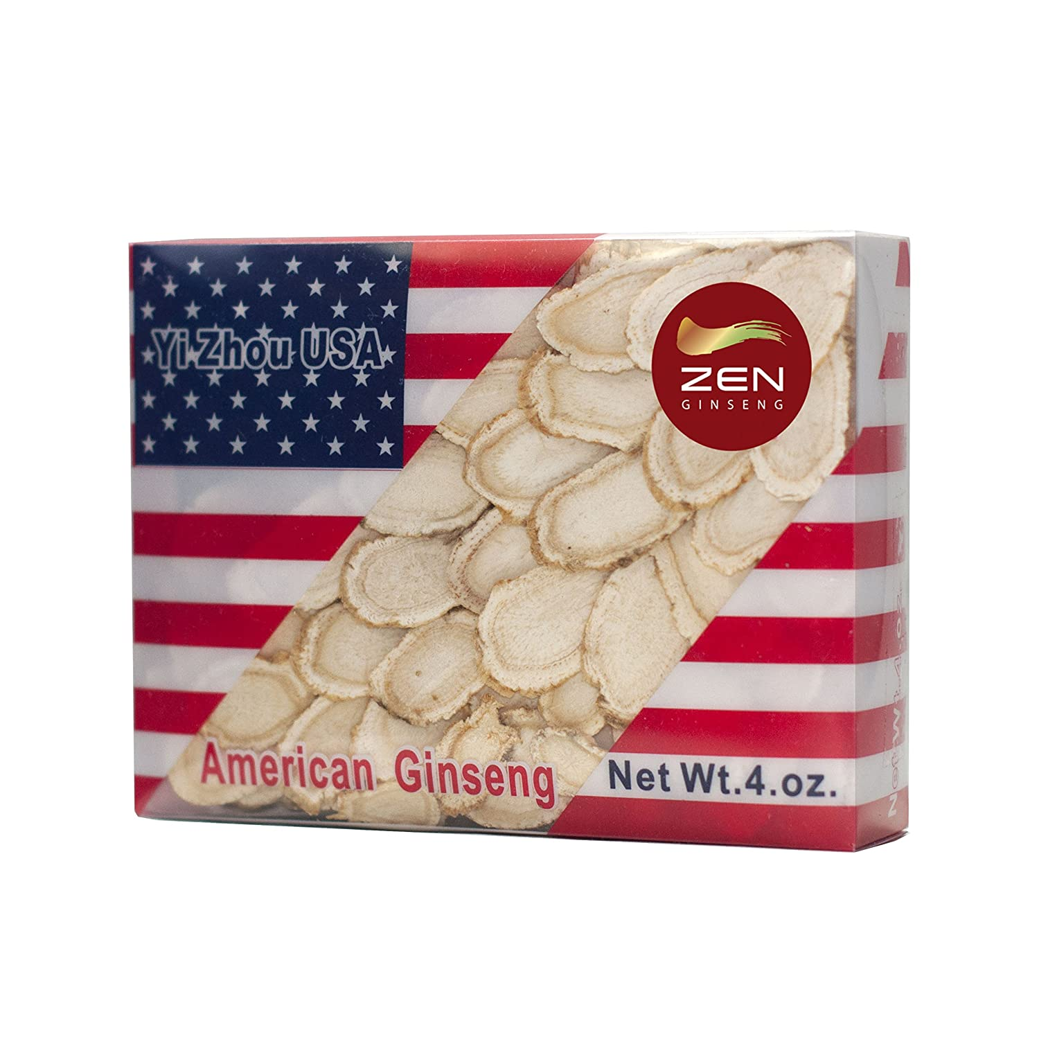 Hand-Selected American Wisconsin Ginseng Slice 4oz Box