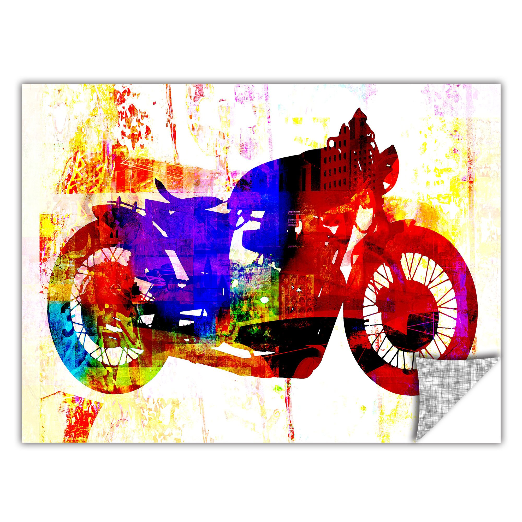Vinilo Decorativo Pared [0KILR5QS] moto