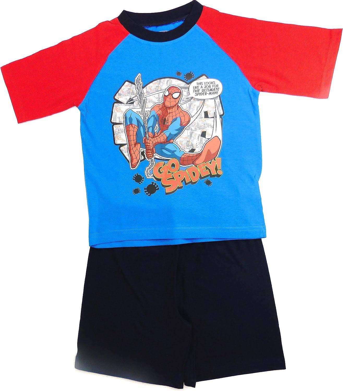 Boys kids Marvel Spiderman Pyjamas Short Sleeve T-Shirt Shorts Set 4-10 Years