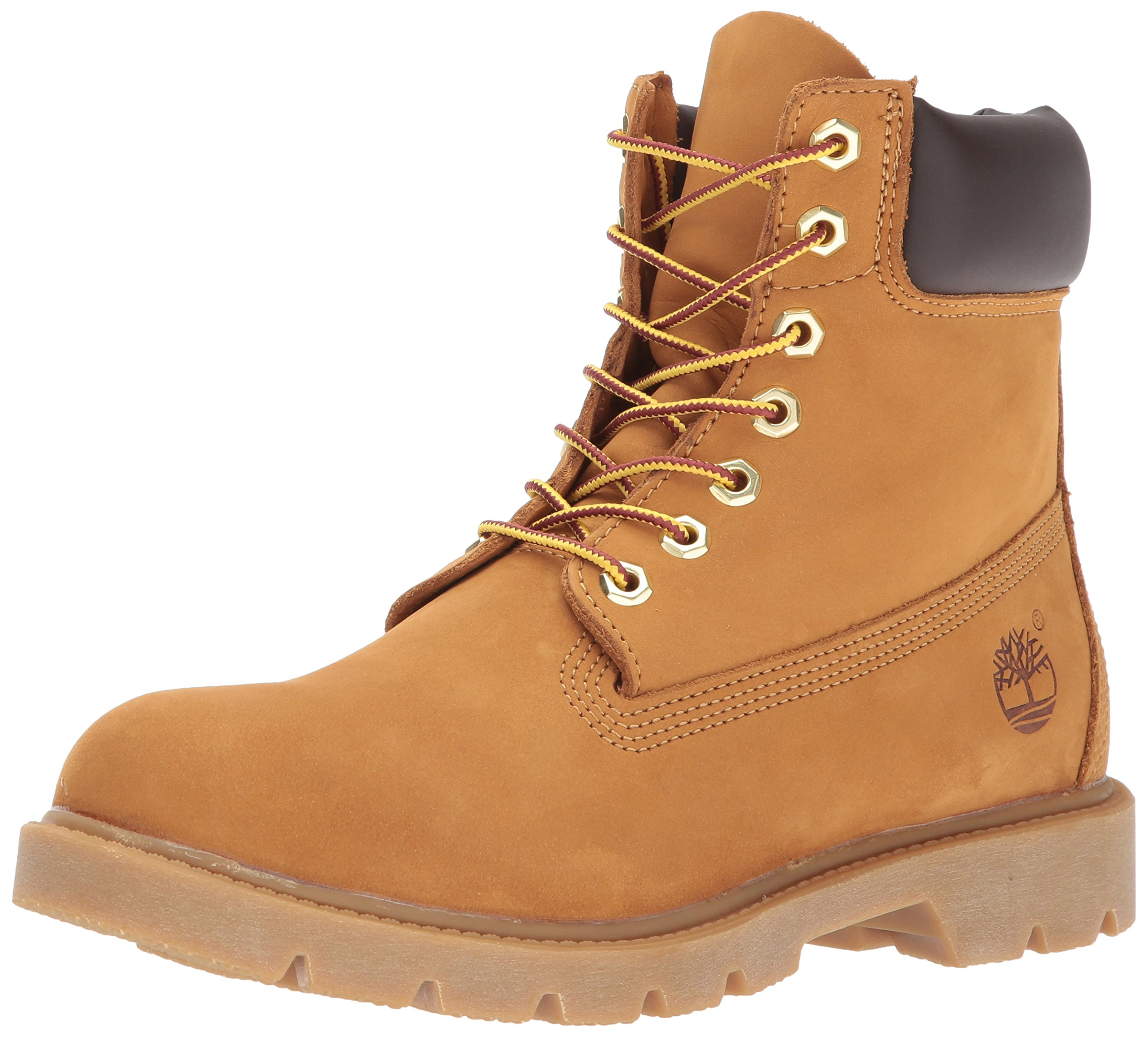 Timberland Men's 6'' Basic Contrast Collar Boot, Wheat Nubuck, 10.5 M US by Timberland
