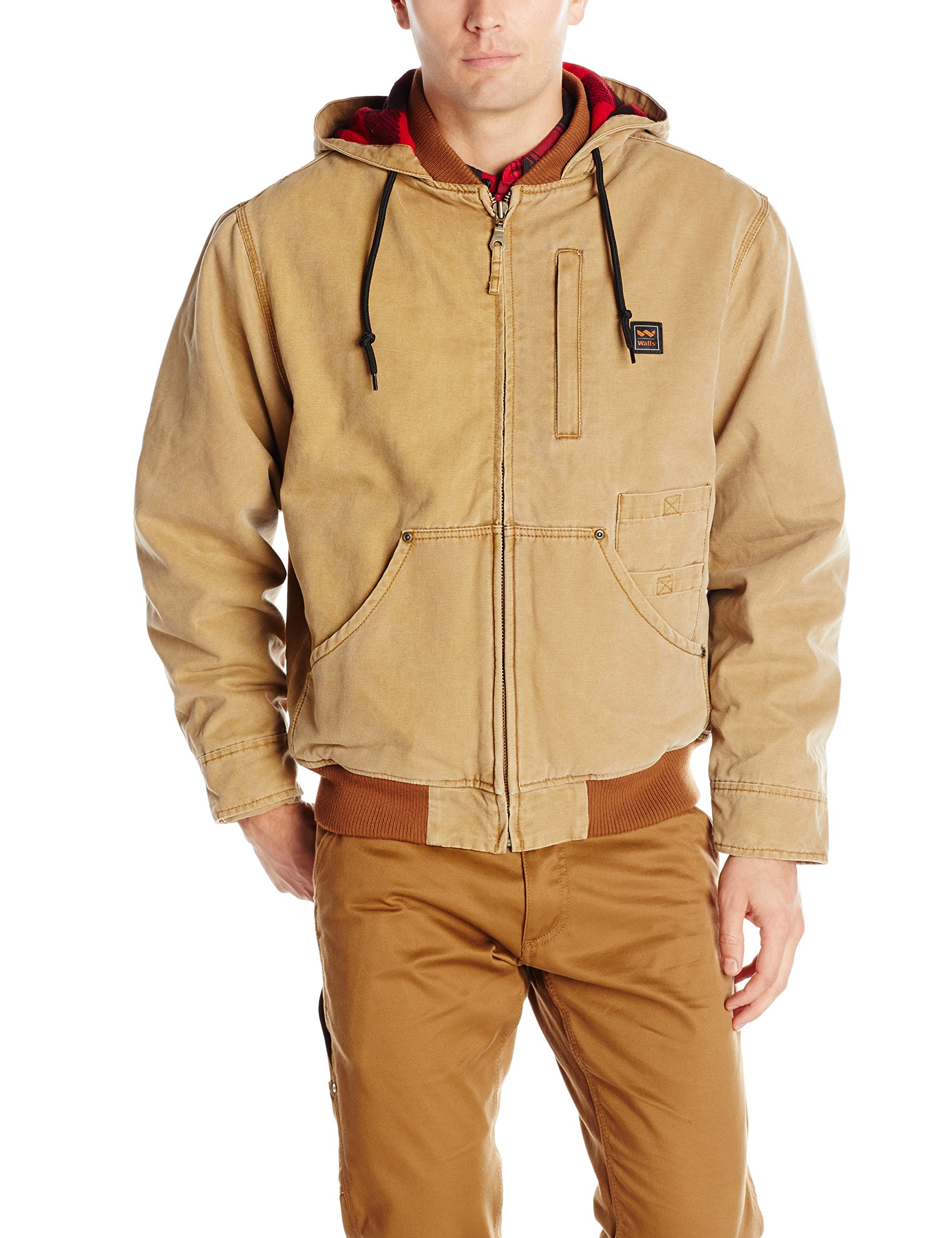 Walls Men's Breckenridge Vintage Duck Hooded Jacket, Pecan, Medium