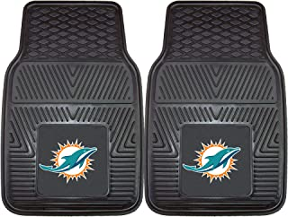 "product image for FANMATS - 8770 NFL Miami Dolphins Vinyl Heavy Duty Car Mat,18""x27"""