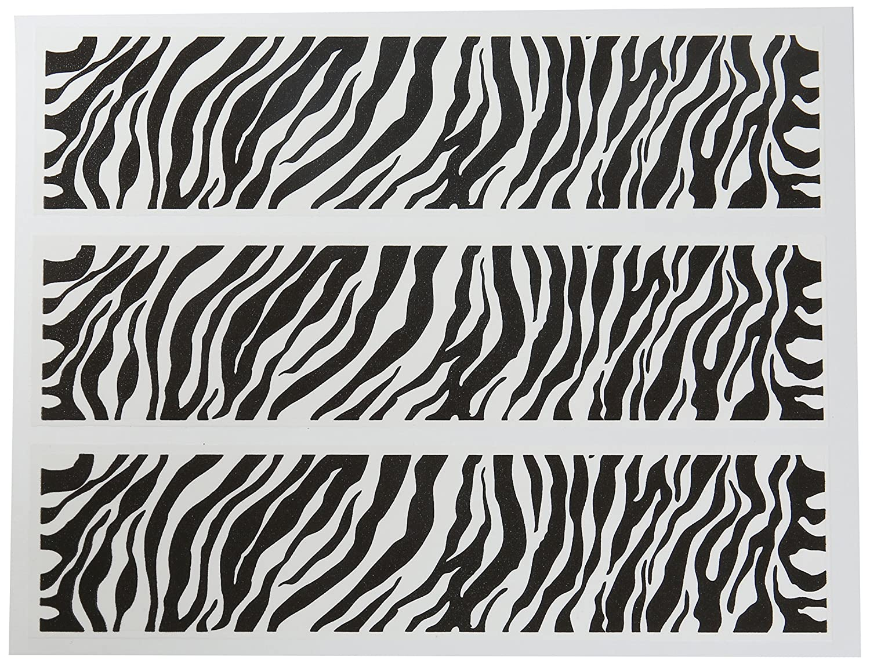 amazon com safari zebra print border edible dessert icings