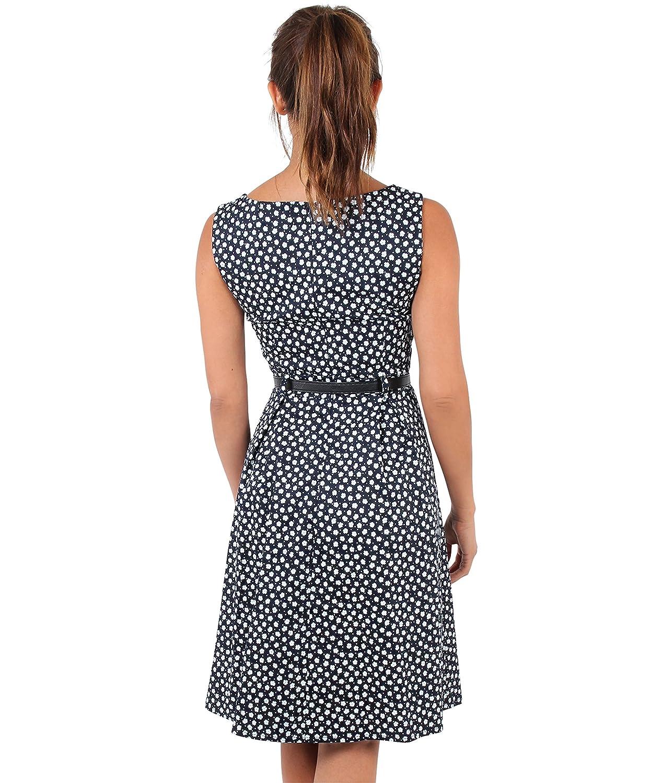 KRISP Damen 50er Jahre Vintage Kleid Swing Midi Knielang: Amazon.de ...