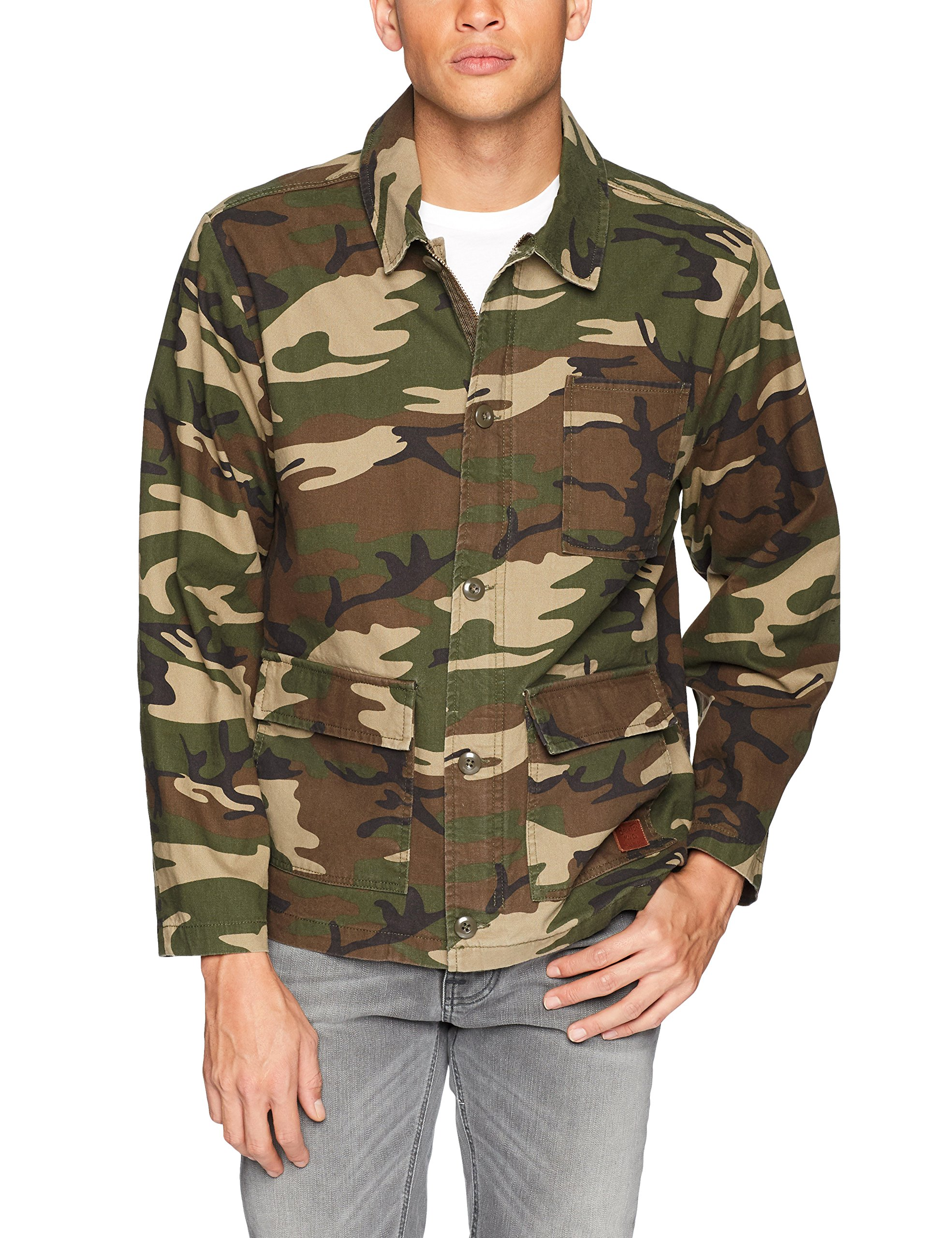 Brixton Men's Signal Relaxed Fit Chore Jacket, Camo, L by Brixton (Image #1)