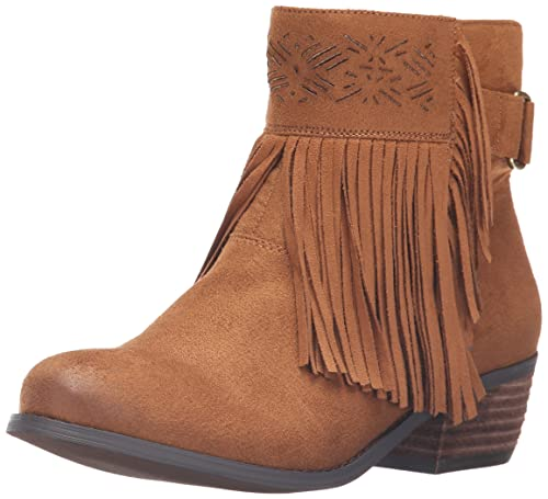 2017 Simple Not Rated Captain Country Fringe Bootie Black