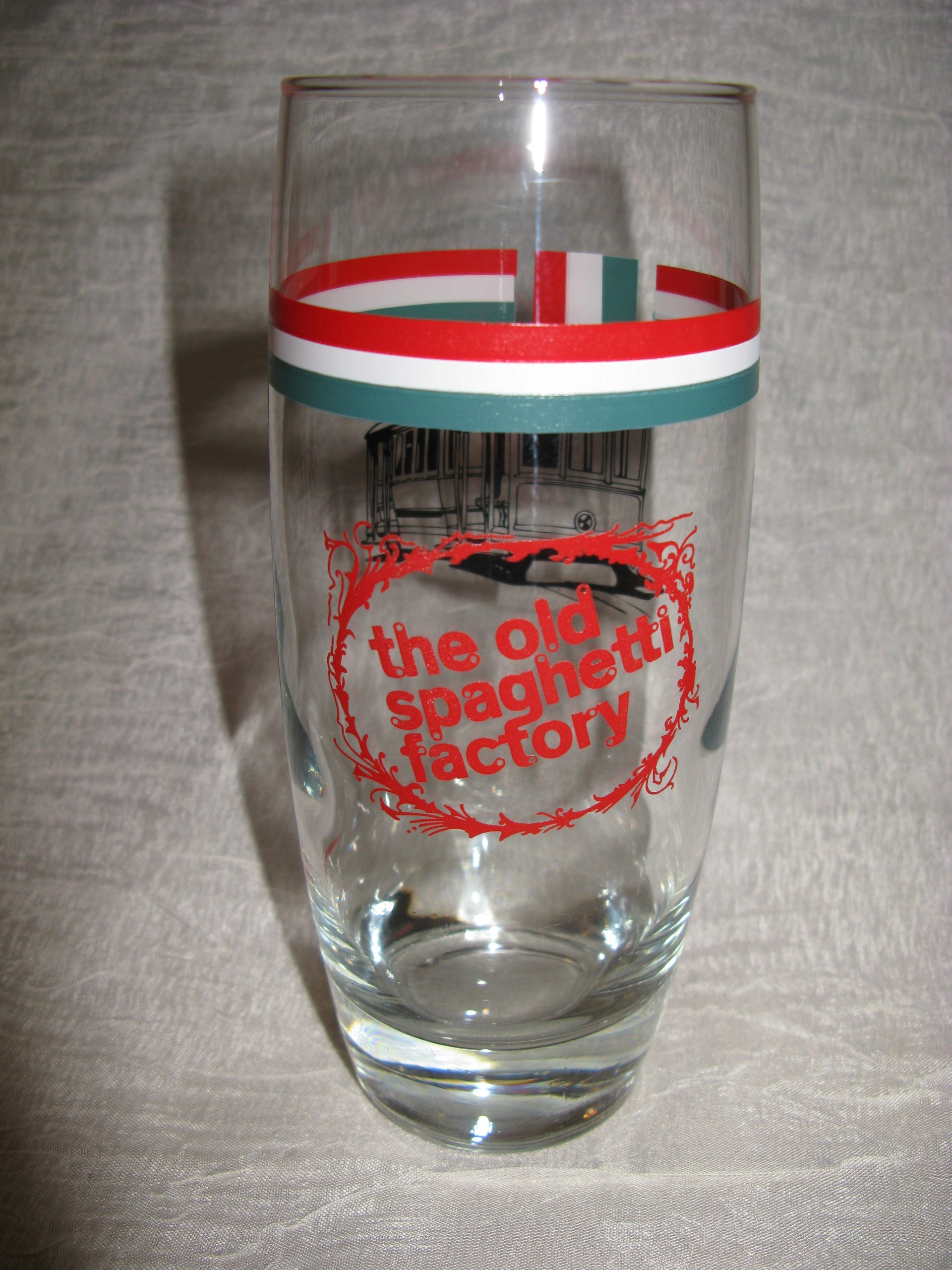 Vintage the Old Spaghetti Factory Glass New Orleans Trolley Car Rare Find