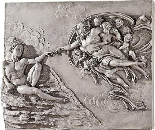 Design Toscano The Creation of Adam Sculptural Wall Frieze