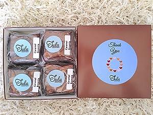 Tula Bakeshoppe Thank You Caramel Brownie Gourmet Appreciation Food Gift Baskets for Best Friend, Family, Teacher (16 Bars)