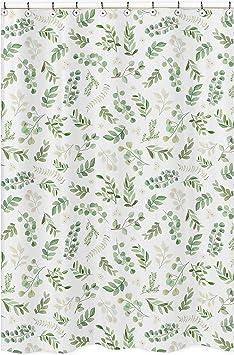 Blue Grey and White Boho Watercolor Botanical Flower Woodland Tropical Garden Sweet Jojo Designs Floral Leaf Lamp Shade
