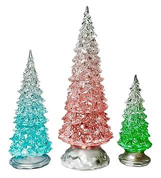 led lighted acrylic christmas trees holiday decoration set of 3 assorted sizes 10 75quot - Amazon Christmas Trees