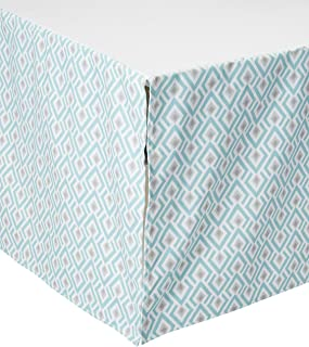 """product image for Archery (Taupe and Aqua) Crib Skirt 17"""" Drop"""