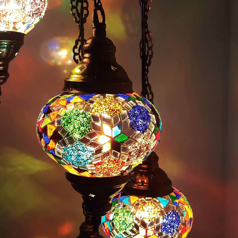 de TURQUÍA marroquí Tiffany Estilo Colgante cristal mosaico ...
