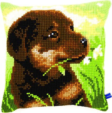 Amazon.com: Vervaco – Kit para cojín de Rottweiler Puppy Kit ...