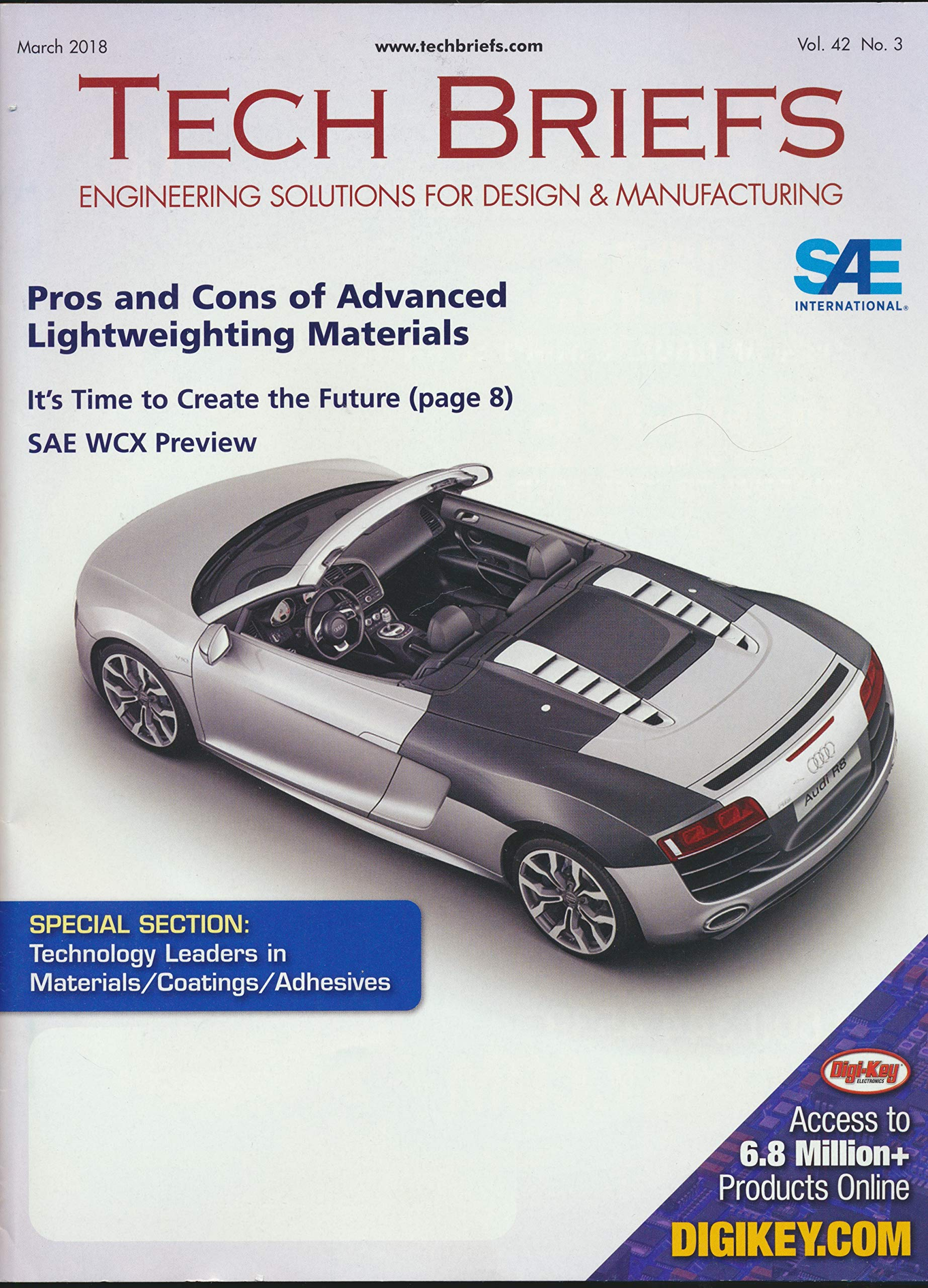 Tech Briefs Engineering Solutions For Design And Manufacturing The Pros And Cons Of Advanced Lightweighting Materials Sae Wcx Preview Structural Adhesives Gallium Infused Liquid Composits Sma Art Rice University John H Glenn Research