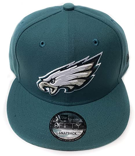 official photos 64430 b6e46 Image Unavailable. Image not available for. Color  New Era Philadelphia  Eagles 9Fifty Black   Green Logo Adjustable Snapback Hat NFL