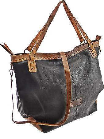Damen Handtasche Sommertasche Tasche Damen Tasche Handtasche Tragetasche  Schultertasche Weekender (Black)