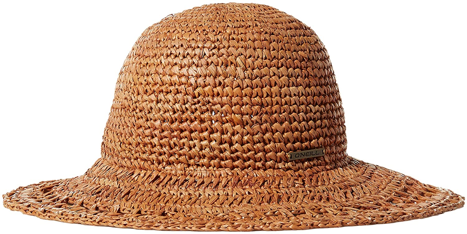ONEILL Womens Tulum Straight Brim Boater Hat Natural One Size