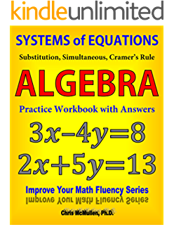 50 challenging algebra problems fully solved chris mcmullen systems of equations substitution simultaneous cramers rule algebra practice workbook with answers fandeluxe Images