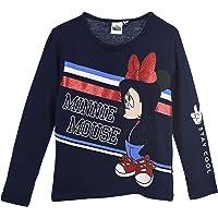 Minnie Mouse Niñas Camiseta de Manga Larga