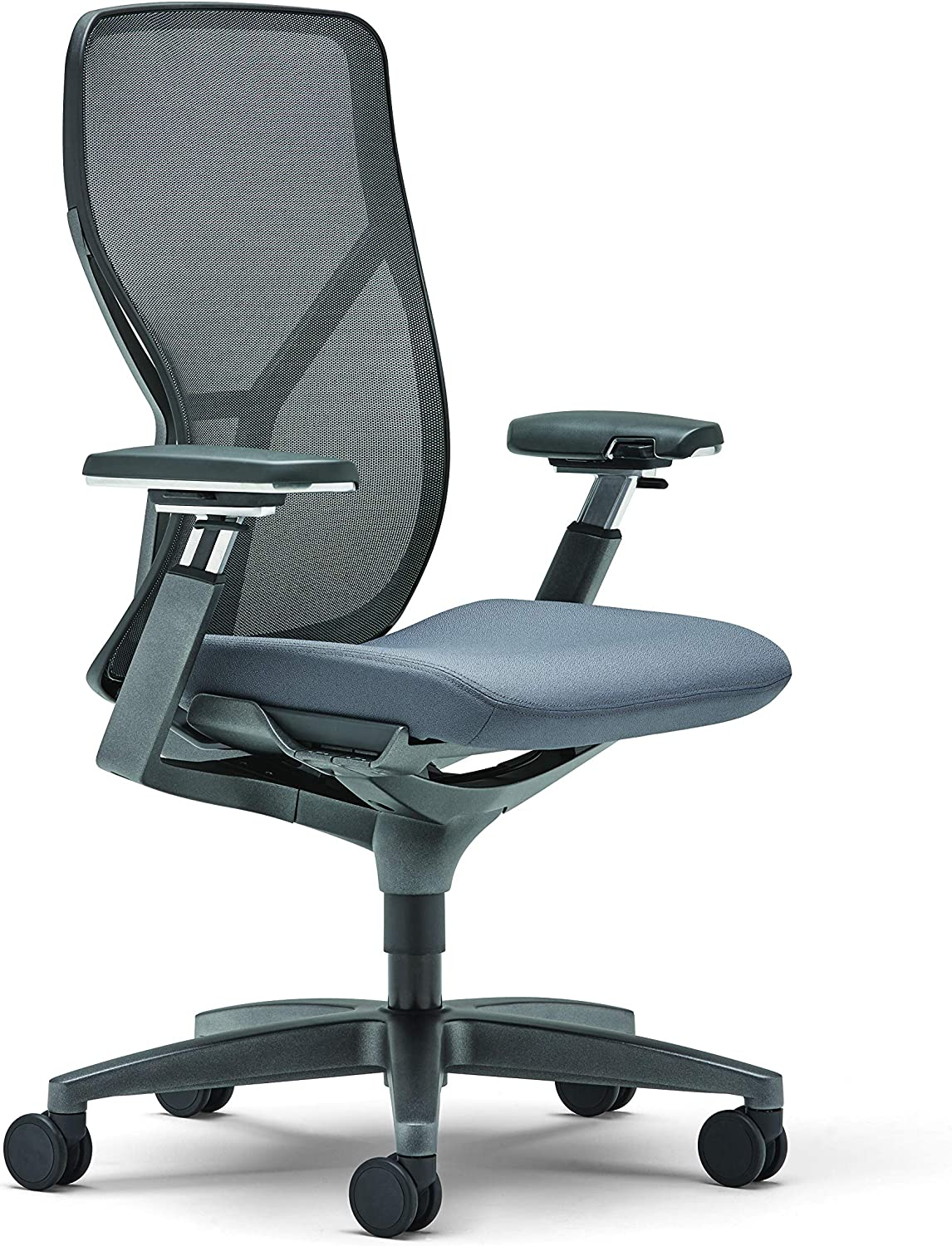 Allsteel Black Acuity 24x60 Weight-Activated Mesh Back Task Chair with Fully Adjustable Arms
