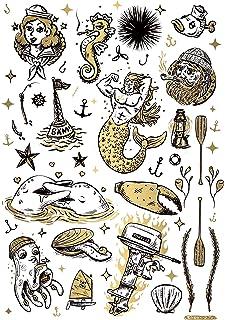 Temporäre Tattoos Von Tatsy Motiv Matrose Seemann Marine