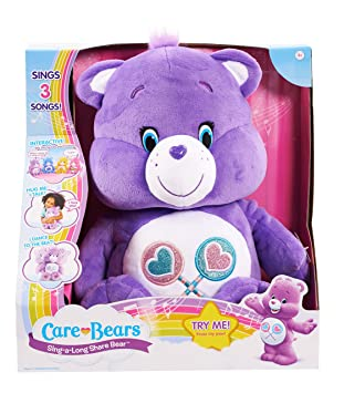 Amazon.com: Care Bears Share Sing-a-Long Bear Plush: Toys & Games