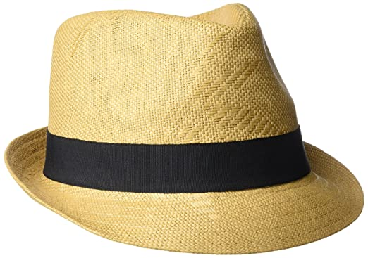4fc65078f9d14 Henschel Men s Straw Fedora with Black Band at Amazon Men s Clothing store