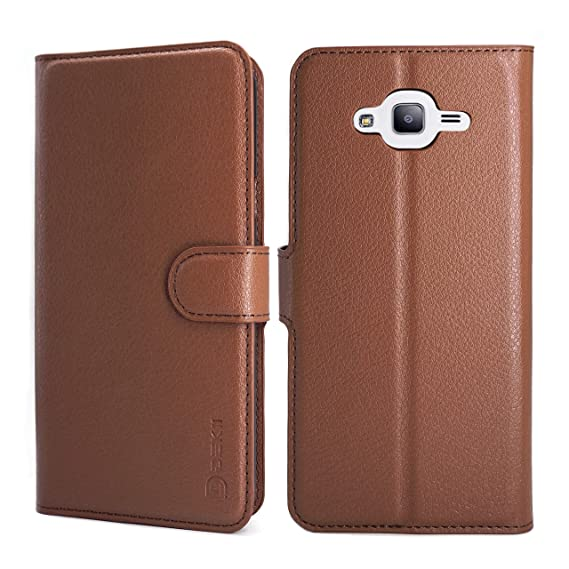 Samsung Galaxy J7 Neo/Nxt Case Wallet Brown, Samsung J7 Leather Case, Dekii