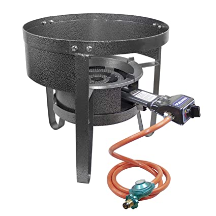Amazon.com : Vulcanus V-L01 Low Pressure Cast Iron Burner. 1-S Single Burner Stand with Wind Screen. : Garden & Outdoor