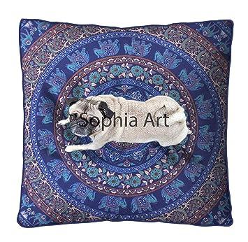 Sophia Art Indio Mandala Suelo Almohada Cuadrada sofá Grande ...