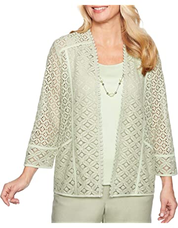 48f4cf8268f6 Alfred Dunner Petite Southampton Necklace   Lace Duet Top