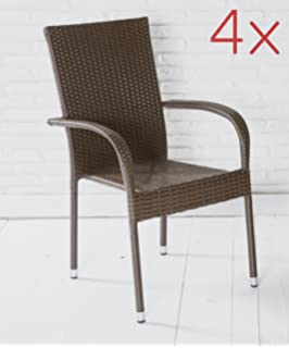 Moderne Gartenstühle moderner gartenstuhl st tropez stapelstuhl rattan grau brushed