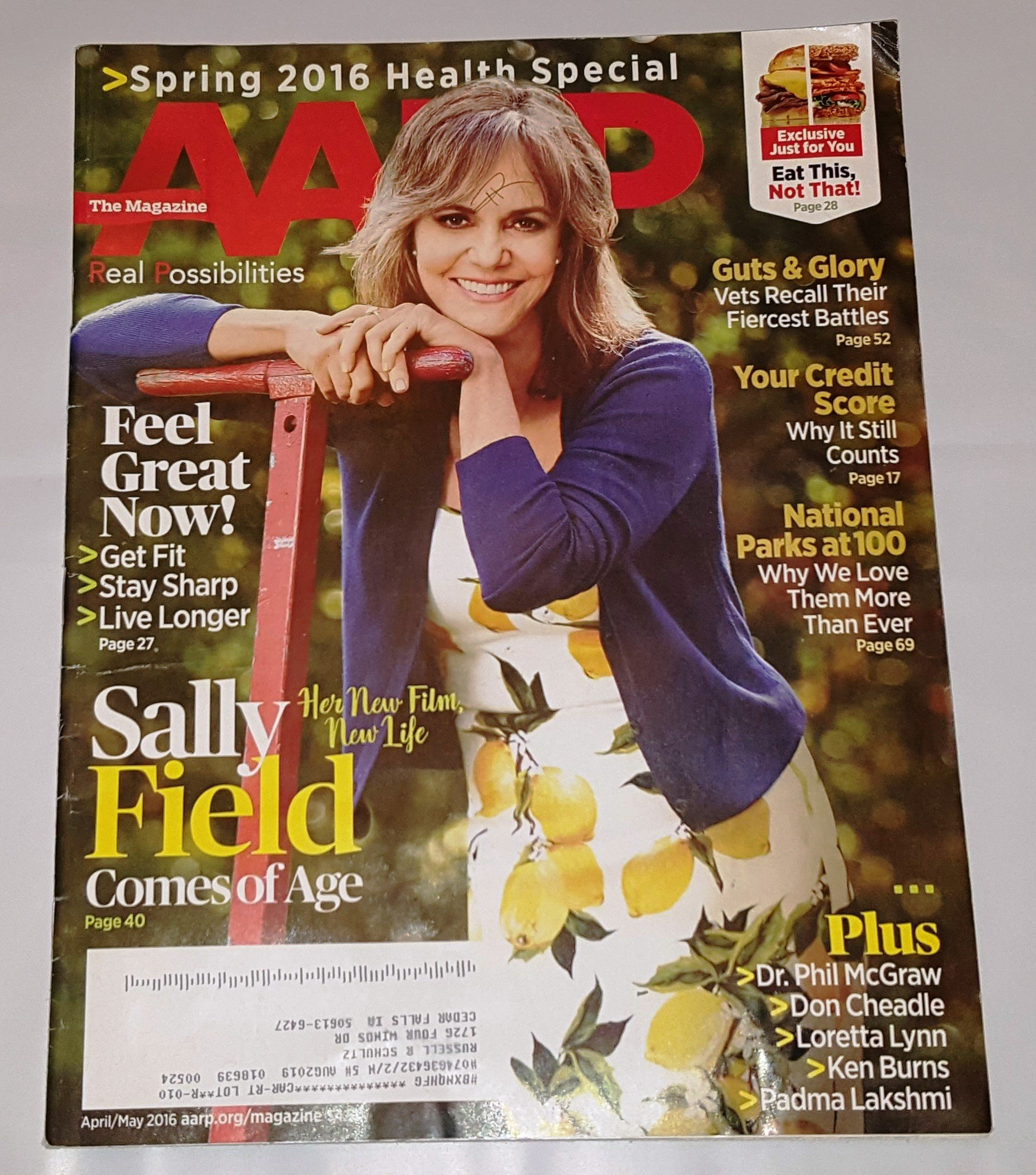 Read Online AARP April/May 2016 Sally Field Comes of Age ebook