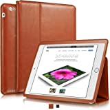 "KAVAJ Leather iPad 2/3/4 Case Cover ""Berlin"" for Apple iPad 4, iPad 3, iPad 2 Cognac-Brown Genuine Cowhide Leather with Built-in Stand Auto Wake/Sleep Function. Slim Fit Smart Folio covers iPad 2/3/4"