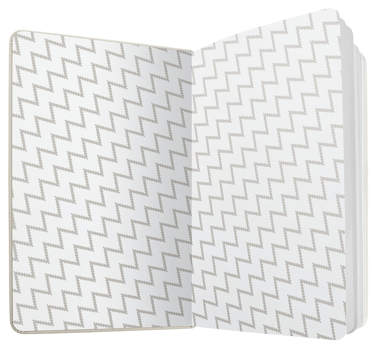 couverture rigide lign/é 13,5 x 20,3 cm bleu//gris clair SIGEL JN301 Carnet de notes Jolie