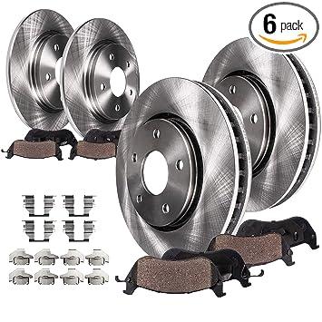 Amazon.com: Detroit Axle – Rotores de freno delanteros y ...