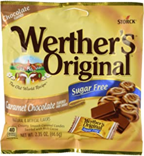 Werthers Original Caramel Chocolate Sugar Free Hard Candies 2.35 oz by Werthers