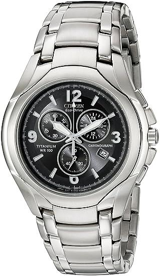 916c0faa2 Citizen Men's AT0940-50E Chronograph Eco-Drive Titanium Black Dial Watch:  Citizen: Amazon.ca: Watches