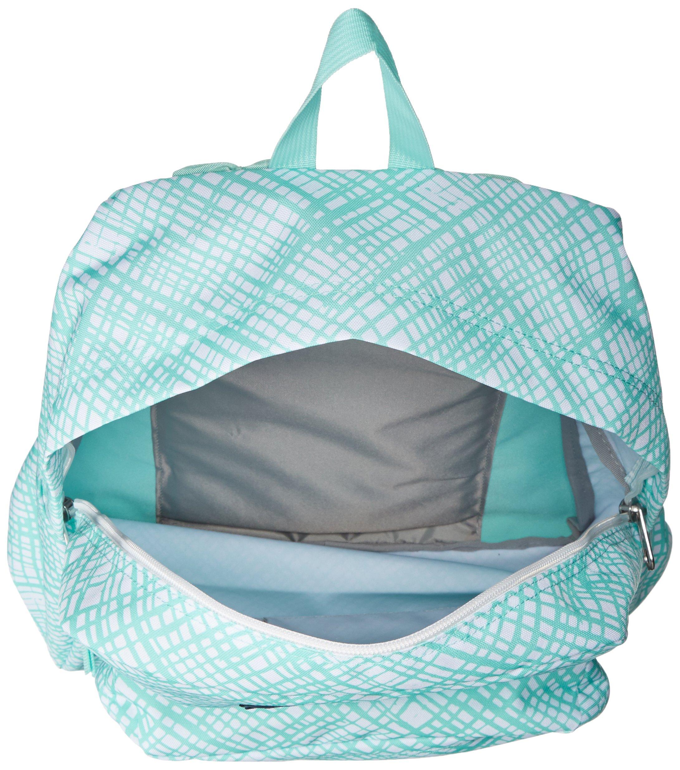 JanSport Womens Classic Mainstream Superbreak Backpack - Aqua Dash Jagged Plaid / 16.7'' H X 13'' W X 8.5'' D by JanSport (Image #3)