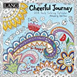 "LANG - 2018 Box ""Coloring"" Calendar - ""Cheerful Journey"", Artwork by Debi Hron - 12 Month, 5.25"" x 5.25"""