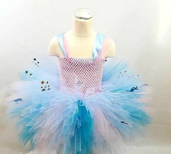fcc27e84a0 Blue unicorns and rainbow stars,Multi Layered Childrens Tutu Dress Perfect for  Birthday,Parties,Photo Shoot,Halloween: Amazon.co.uk: Handmade