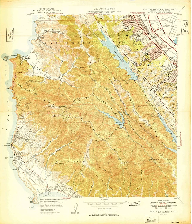 Amazon.com: California Maps | 1949 Montara Mountain, CA USGS ... on